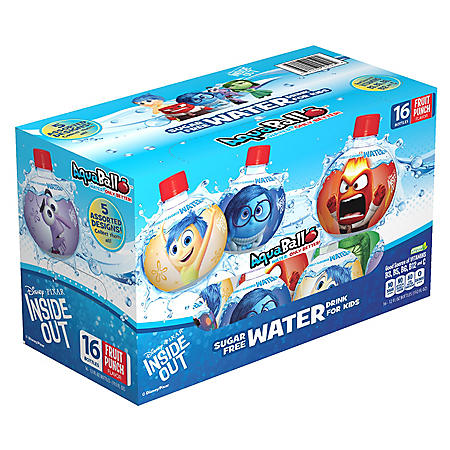 AquaBall Avengers Naturally Flavored Water Variety Pack (12 oz. bottles, 16 pk.)