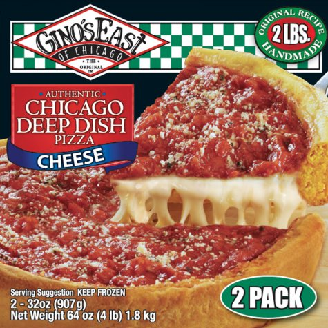 Gino's East Chicago Deep Dish Cheese Pizza - 32 oz. - 2 ct.