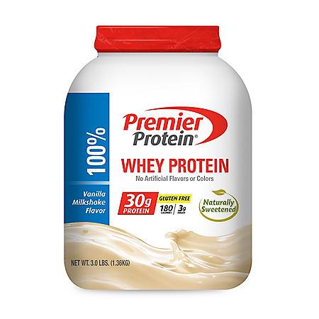 Premier Protein Whey Powder, Vanilla Milkshake (3.0 lbs.)