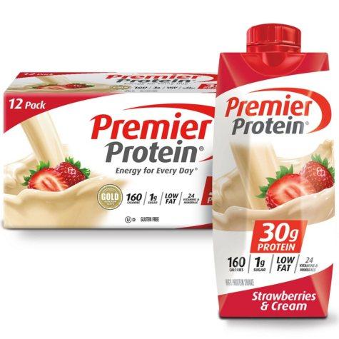 Premier Protein High Protein Shake, Strawberry Cream (11 fl. oz., 12 pack)