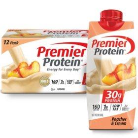 Premier Protein High Protein Shake, Peaches & Cream (11 fl. oz., 12 pk.)