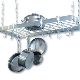 Stainless Steel Rectangular Ceiling Rack