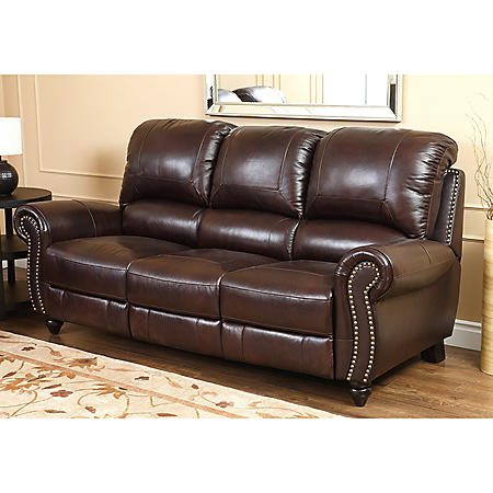 Taylor Top-Grain Leather Reclining Sofa