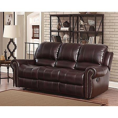 Bentley Top-Grain Leather Reclining Sofa