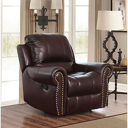 Bentley Top-Grain Leather Recliner