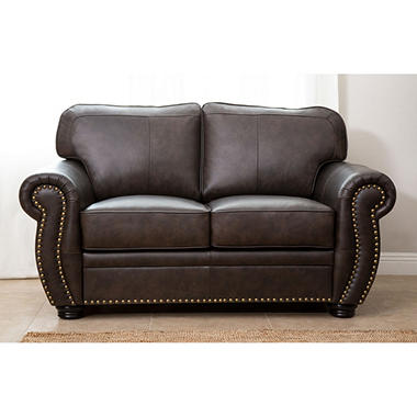 Sophie Top-Grain Leather Loveseat