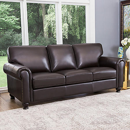Maverick Top-Grain Leather Sofa