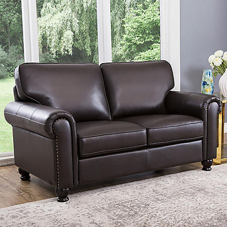 Maverick Top Grain Leather Loveseat Sam S Club