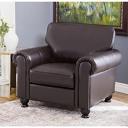 Maverick Top-Grain Leather Armchair