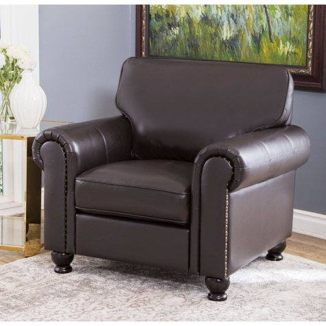 Maverick Top-Grain Leather Armchair