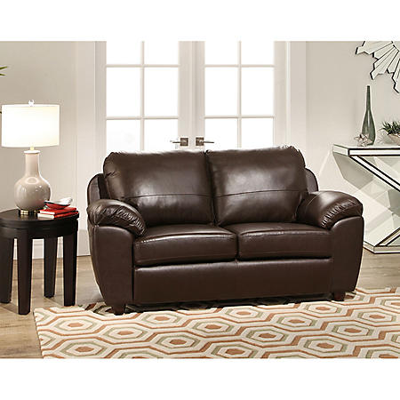Mavin Top-Grain Leather Loveseat