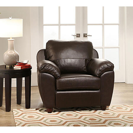 Mavin Top-Grain Leather Armchair