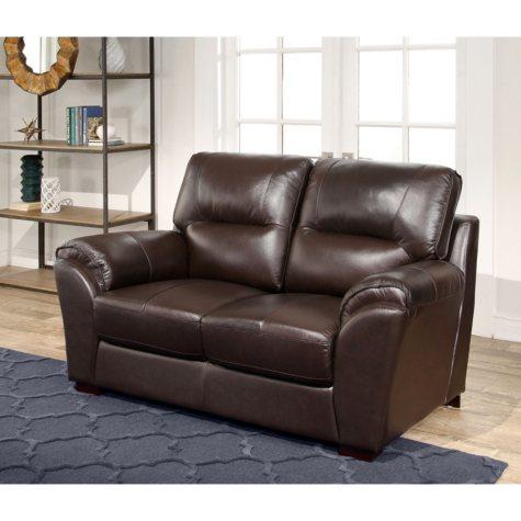 Bixley Top-Grain Leather Loveseat