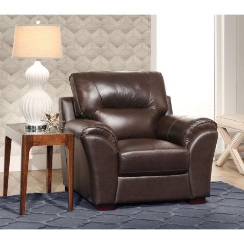 Bixley Top-Grain Leather Armchair