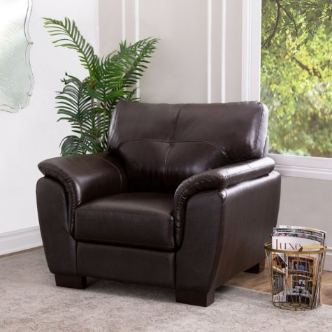 Liston Top-Grain Leather Armchair