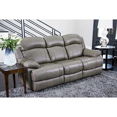 Hamptons Top Grain Leather Reclining Sofa