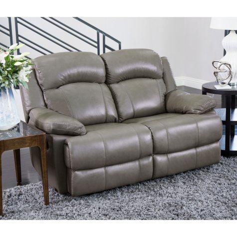 Hamptons Top-Grain Leather Loveseat