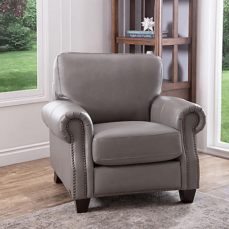 Helena Top-Grain Leather Armchair