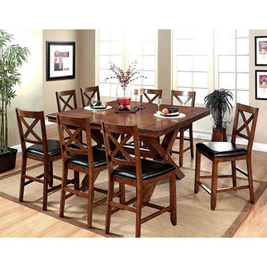 Best Seller Charleston Counter Height Dining Table And Chairs 9 Piece Set