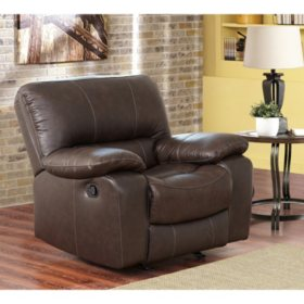 Riley Top Grain Leather Recliner