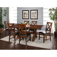 Charleston Table and Chairs, 7 Piece Dining Set
