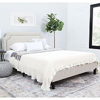 Abbyson Living Allegro Queen Platform Bed SW-222-CRM-QU Deals