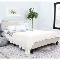 Deals on Abbyson Living Allegro Queen Platform Bed SW-222-CRM-QU