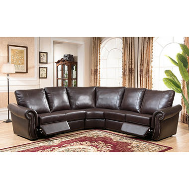 tiffany reclining 3piece sectional sofa
