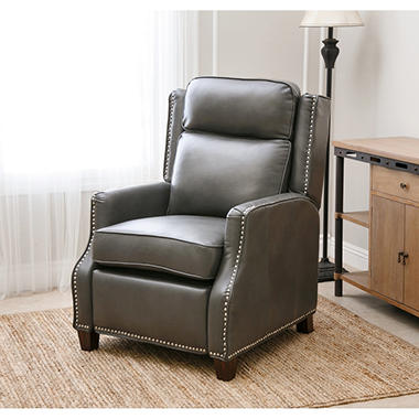 richfield pushback leather recliner - Leather Rocker Recliner