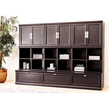 belmont 9-piece modular wall storage unit - sam's club