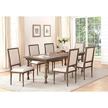 Adler Oak Dining Table and Chairs Set (Assorted Sizes)