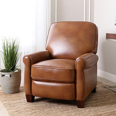 soft leather recliner club chair & Soft Leather Recliner Catalina Faux Leather Reclining Accent Club ... islam-shia.org