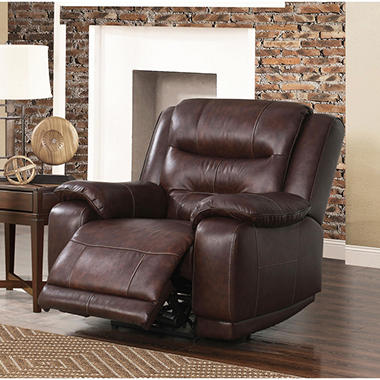 chandler topgrain leather power recliner with usb port - Power Recliner