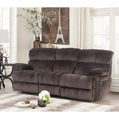 Blankenship Fabric Reclining Sofa With Drop Down Console And USB Ports