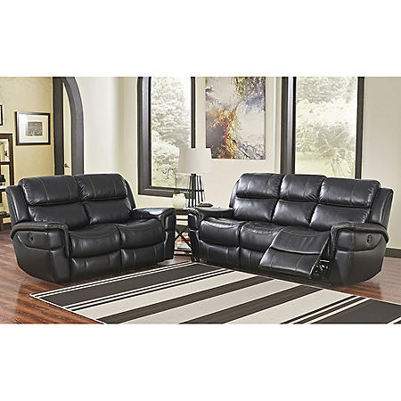 Maxwell Power-Reclining Sofa and Loveseat