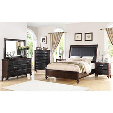 Lombardi Merlot Bedroom Set (Assorted Sizes)