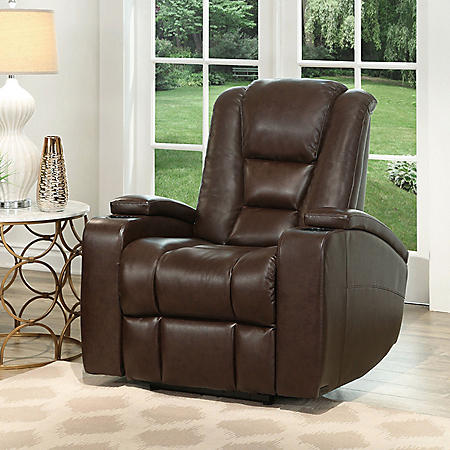 Mastro Leather Power-Reclining Home Theater Chair