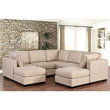 Harper Fabric 7-Piece Modular Sectional