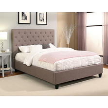 Mika Tufted Upholstery Platform Bed (Assorted Sizes)