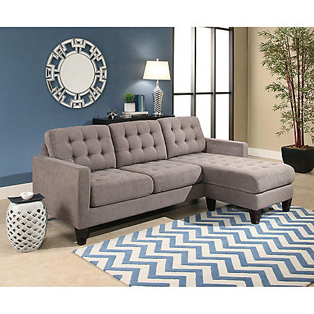 Taylor Fabric Reversible Sectional (Assorted Colors)