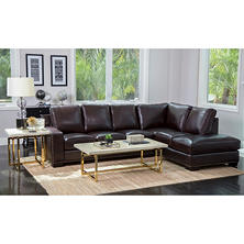 Ariana Top Grain Leather Sectional