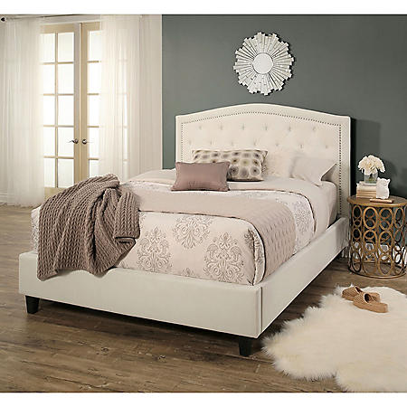 Sierra Tufted Upholstery Platform Bed (Assorted Sizes)