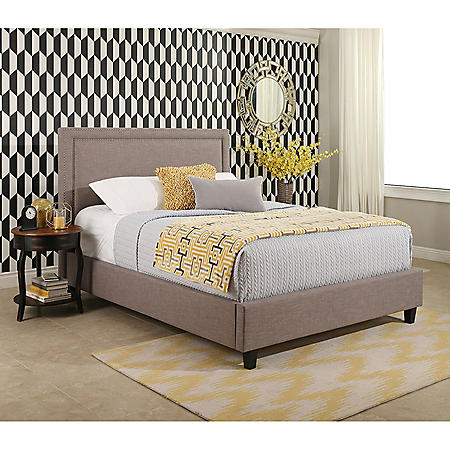 Serenity Upholstery Platform Bed (Assorted Sizes)