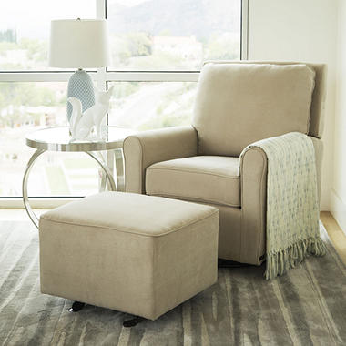 Leyla Gliding Chair and Gliding Ottoman