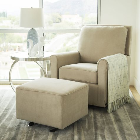 Leyla Gliding Chair with Optional Ottoman (Assorted Colors)