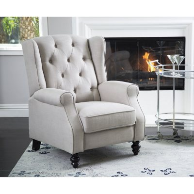 Memberu0027s Mark Sydney Pushback Fabric Recliner