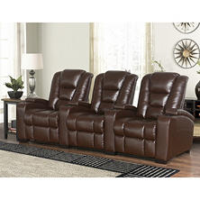 Mastro 3-Piece Leather Power Reclining Theatre Set