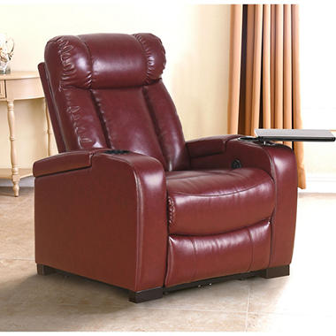 Larson Leather Power Reclining Home Theater Chair