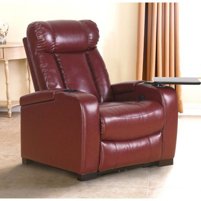 Larson Leather Power Reclining Home Theater Chair (Assorted Colors)