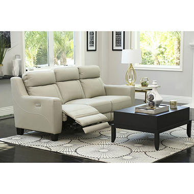 Warren Leather Power Reclining Sofa